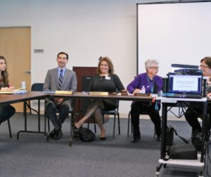 Of the five members on the Hazel Hawkins Hospital Board of Directors, lone physician Ariel Hurtado (second from left) said the board has violated the Brown Act more than once. Photo by John Chadwell.