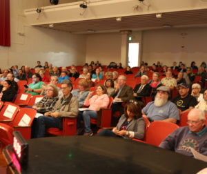 The audience gathered at one of the October 2018 election forums hosted by BenitoLink, the San Benito County Farm Bureau and Youth Alliance. Photo by BenitoLink staff.