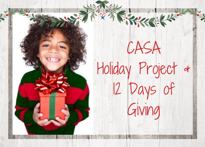 CASA Holiday Project & 12 Days of Giving Campaign. Photo provided.