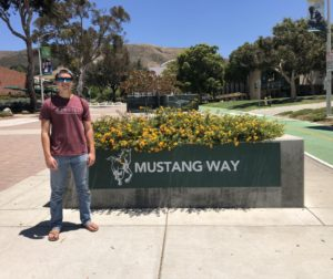 San Benito High School 2018 graduate Josh Corrigan took 11 Advanced Placement courses and 12 AP tests while in high school, essentially putting him a year ahead academically upon his arrival as an aerospace engineering major at Cal Poly. Submitted photo.