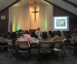 Participants of Saturday's workshop were encourage to look for the signs of human trafficking. Photo by Becky Bonner.