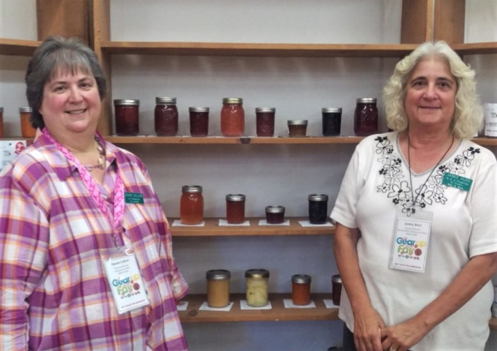 Sisters Susan Calleri and Janice Alosi have been teaming up as Co-Department Chairs of the Adult and Junior Preserves, Homemade Beer and Wine, and Adults Crafts categories of the fair for the last 12 years. Photo by Becky Bonner.