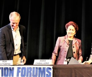 Both candidates attended October 18th's Election Forum in Hollister. Photo by ohn Chadwell.