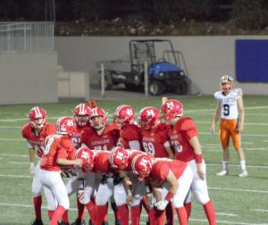 San Benito High Balers get ready to play during the first quarter of their game in Salinas against Los Gatos High School on Sept. 7. Photo by Malia Chang.