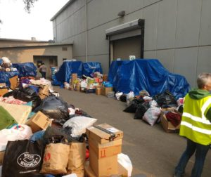 Donations dropped off from James Reid and the 3 Percent United Patriots. Photo courtesy of James Reid.