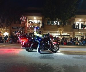 Riding in the 2018 Lights On Parade. Photo by Carmel de Bertaut.