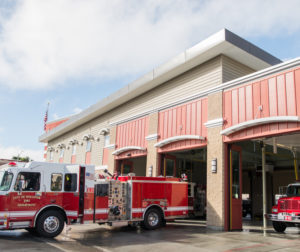 Fire station in downtown Hollister. Photo by Lisa Robinson-Ward.