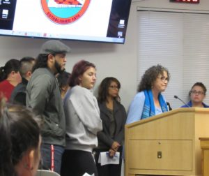 Members of Youth Alliance share their concerns with the lack of mental health services in the county. Photo by Noe Magaña.
