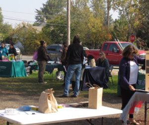 Some of the booths set up at the Nov. 17 Community Health Fair in San Juan Bautista. Photo by Noe Magaña.