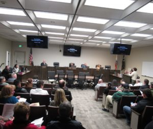 The Nov. 19, 2018 meeting of the Hollister City Council. Photo by Noe Magaña.