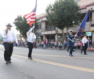 Veterans Day Parade in 2016. Photo by John Chadwell.