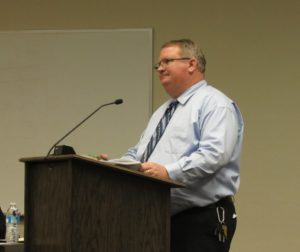 Management Services Director Mike Chambless at a Hollister City Council meeting. File photo.