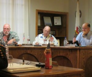 Jim West (left) at a San Juan Bautista City Council meeting in October 2018. Photo by Noe Magaña.