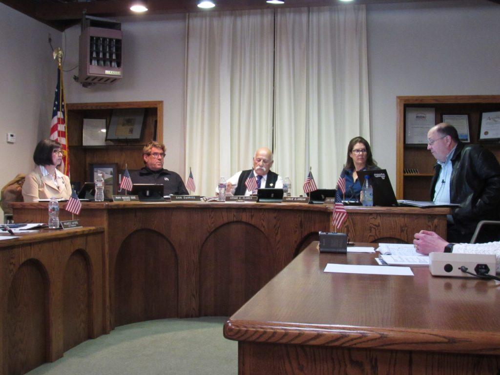 San Juan Bautista City Council at its Jan. 22 meeting. Photo by Noe Magaña.