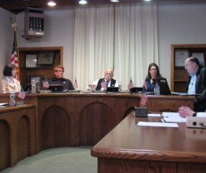 San Juan Bautista City Council at its Jan. 22 meeting. Photo by Noe Magaña.