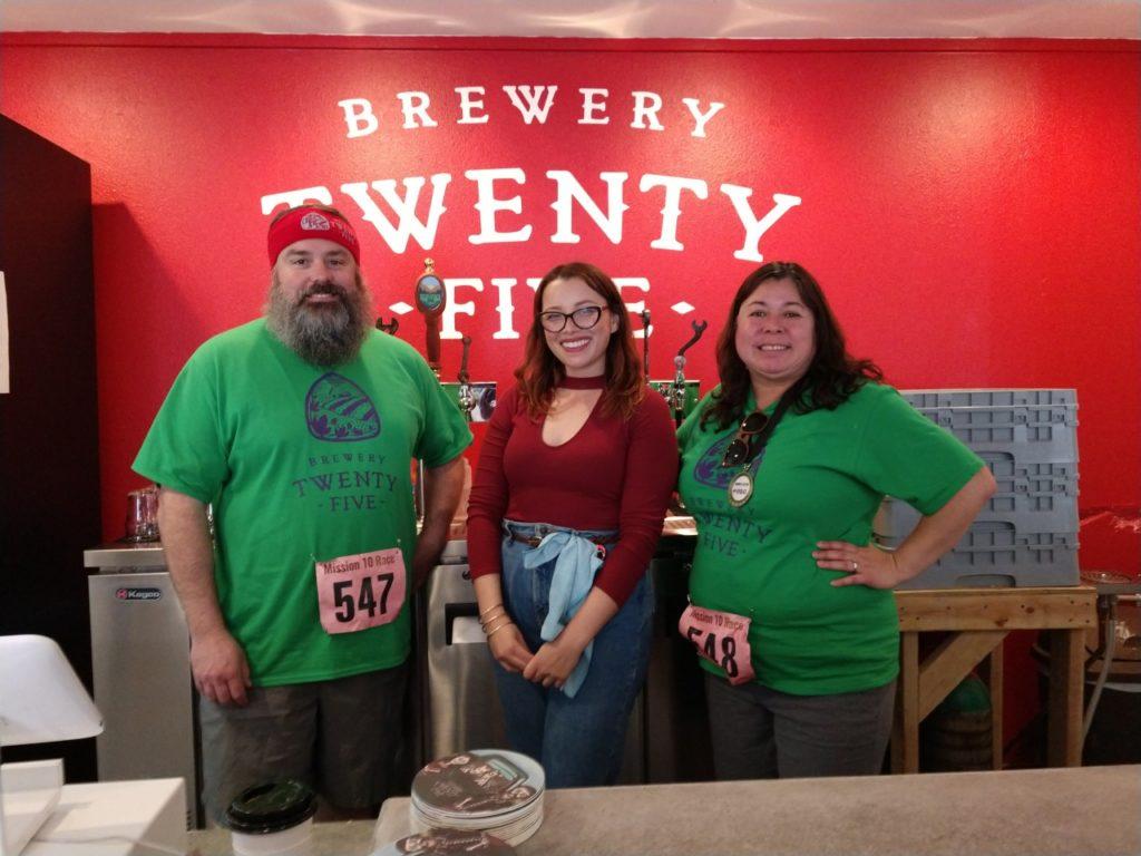 Sean Fitzharris, Jarae Tanner and Fran Fitzharris of Brewery Twenty-Five in San Juan Bautista. Photo by Carmel de Bertaut.