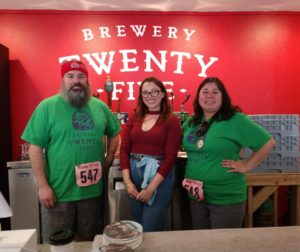 Sean Fitzharris, Jarae Tanner and Fran Fitzharris of Brewery Twenty-Five in San Juan Bautista. Photo by Carmel de Bertaut.