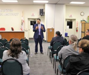 Diego Ochoa said he was looking forward to establishing trust with the community and tackling special education needs. Photos by John Chadwell.