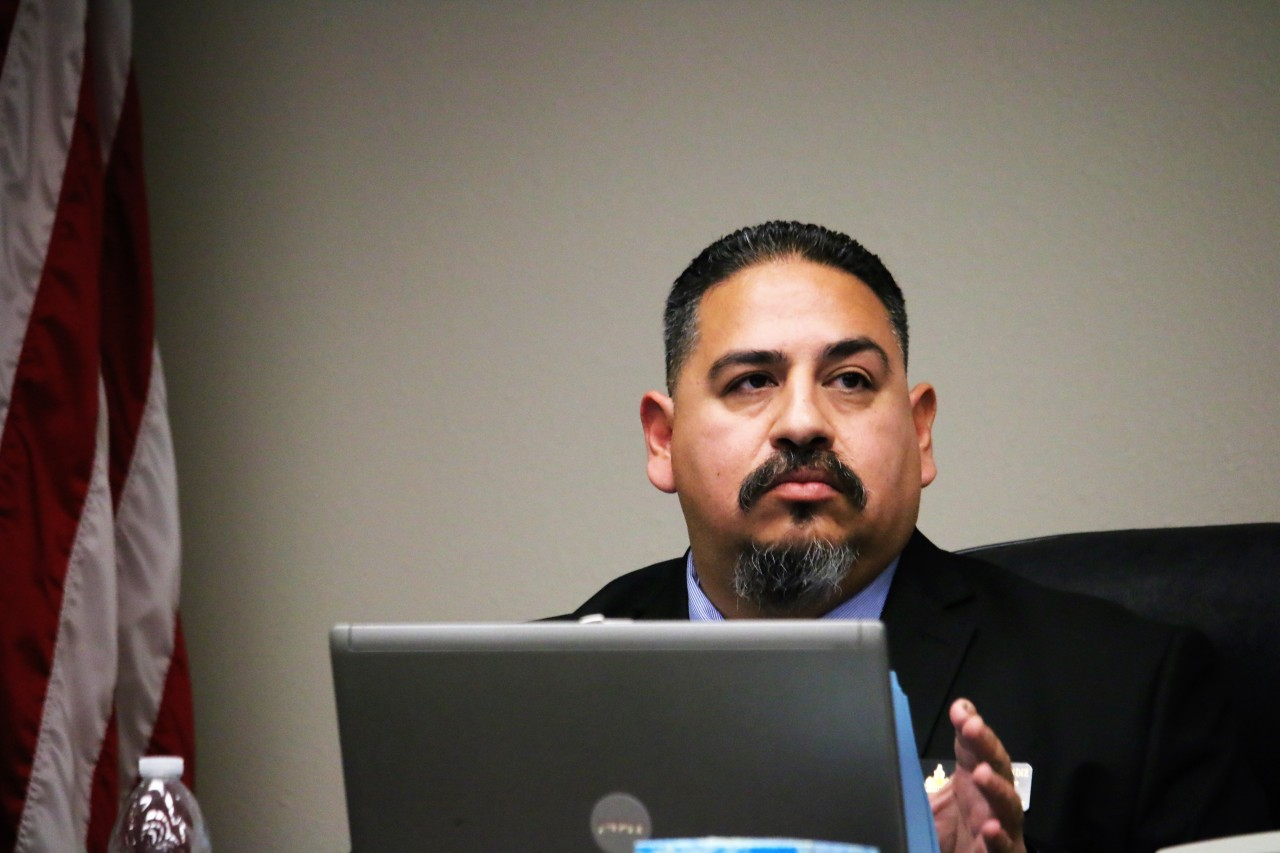 Councilman Rolan Resendiz stated he has never agreed with the proposed 400 block project. Photo by John Chadwell.