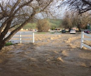 Impact of the 2017 flooding on Lovers Lane. Photo courtesy of San Benito County Office of Emergency Services.