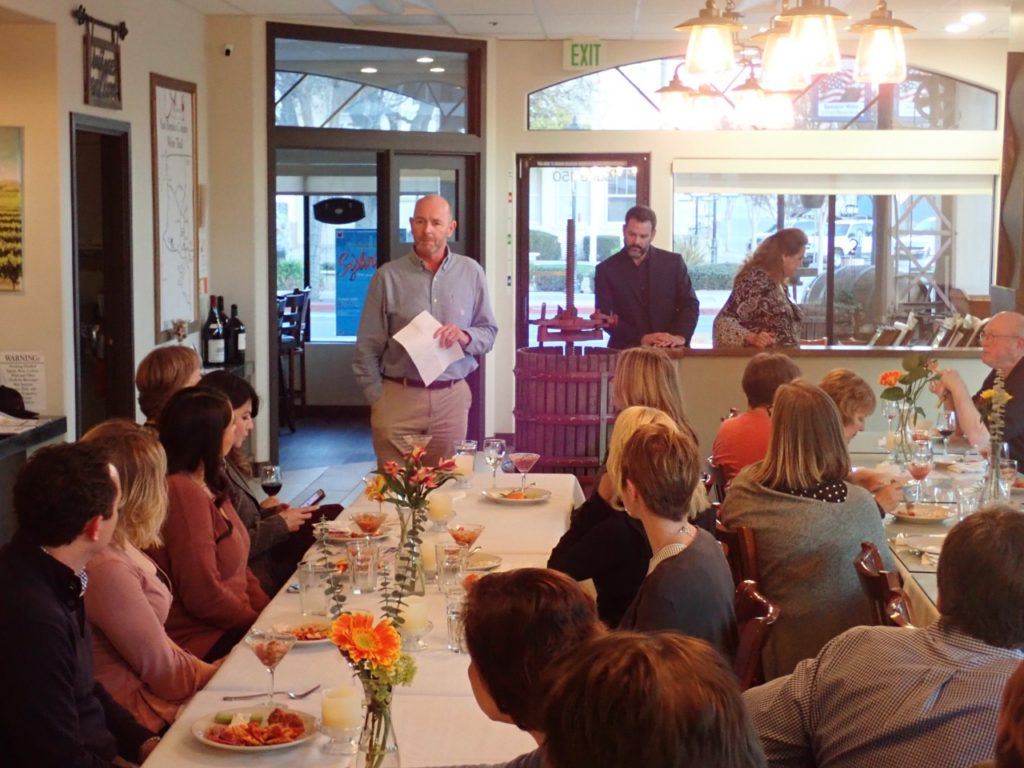 Gary Byrne, President/CEO for Community Foundation for San Benito County, shares campaign fundraising total with sponsors and supporters during the recognition event. Photo provided.