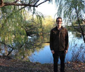 Robbie Brown at the Gavilan College pond on the Gilroy campus. Photo provided by Gavilan College.