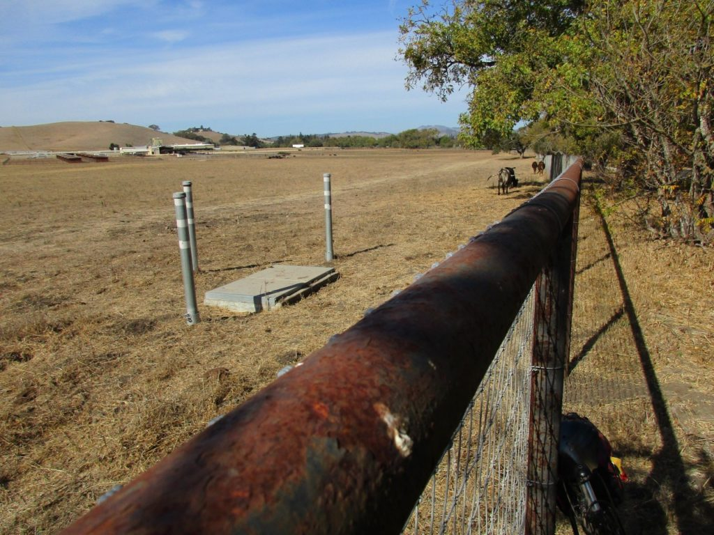 USGS creep meter station on San Andreas Fault near St. Francis Retreat. Photo by Jim Ostdick.