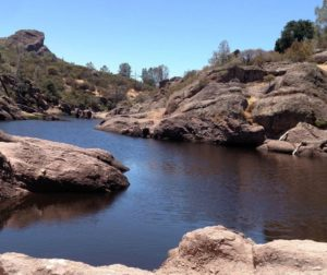 Reservoir in Pinnacles National Park. Photo by Carmel de Bertaut.