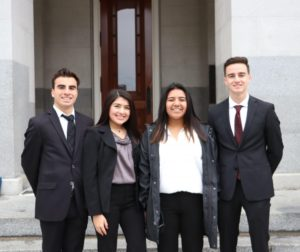 (From left to right) SBHS Senior Class Vice President Evan Rosales, Student Representative to the Board Faith Fernandez, ASB President Alanah Martinez and ASB Vice President Ian Sills. Photo courtesy of Joe Fernandez.