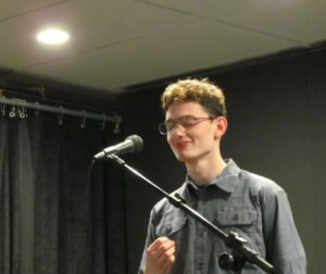 Anzar High sophomore Santino Leahy is headed to the Poetry Out Loud championship in Sacramento. Photo courtesy of San Benito Arts Council.