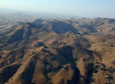 Aerial photo of the Diablo Range. Photo by Rick Masoni.