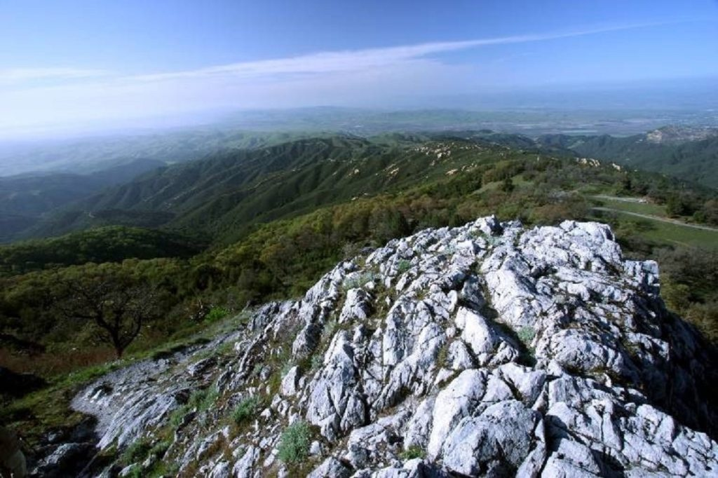 Fremont Peak and the Gabilan Range. Photo by Jim Ostdick.