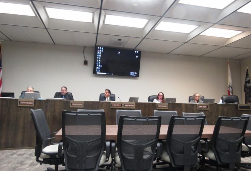 The Hollister City Council at its Jan. 14 meeting. Photo by Noe Magaña.