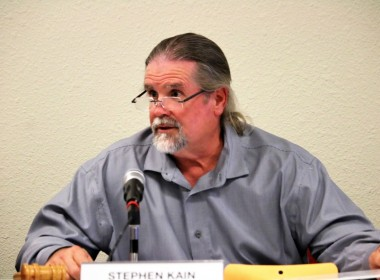 HSD Board President Stephen Kain said Shepherd's report was marching orders to move forward. Photo by John Chadwell.