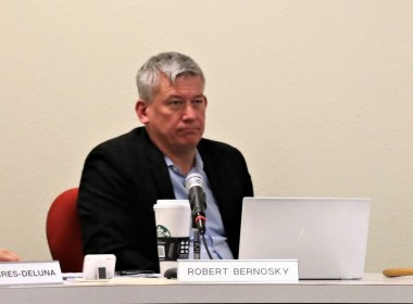 HSD Board Trustee Rob Bernosky said a FCMAT report was hidden away and former Superintendent Lisa Andrew acted on its recommendations after it was discovered. Photo by John Chadwell.