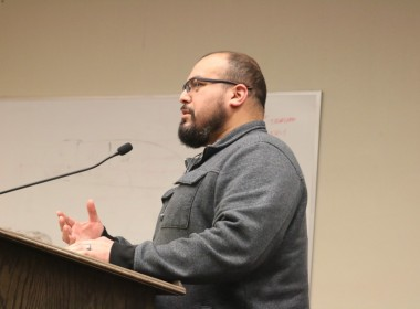 Salvador Mora called out Mayor Ignacio Velazquez for accusing fellow council members of collusion with developers without proof. Photo by John Chadwell.