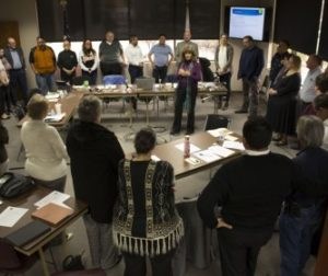 Attendees participate in activities during the 2019 San Benito County Board of Supervisors Retreat. Photo by Noe Magaña.