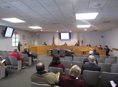County Agricultural Commissioner Karen Overstreet asks for board direction after her hemp presentation at the Feb. 19 San Benito County Board of Supervisors meeting. Photo by Noe Magaña.