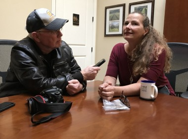 Miryam stopped by BenitoLink to share her story with reporter John Chadwell. Photo by Leslie David.