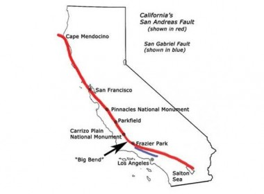 The San Andreas Fault.