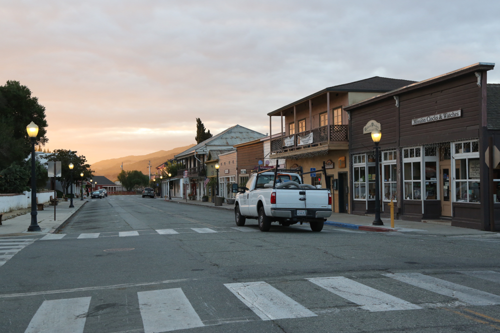 Early morning in San Juan Bautista. Photo by Leslie David.