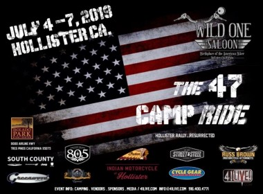 47 Camp Ride will feature live bands, biker camping and the Wild One Saloon at Bolado Park. Art courtesy of 47 Camp Ride.
