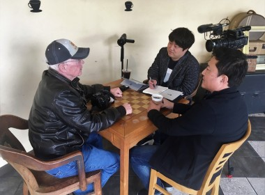 Because the information that the South Korean news team had on the trial came from BenitoLink, they wanted to talk to reporter John Chadwell.