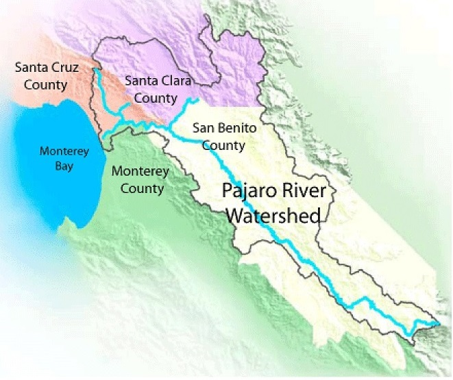 The San Benito-Pajaro watershed.
