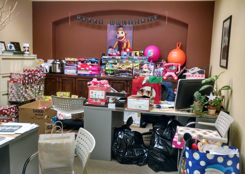 "The CASA office transforms into ""Santa's Workshop"" during the holidays. File photo."