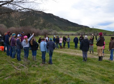 Bar SZ Ranch introductions and circle up. Photo courtesy of Massimiliano Sonego/Point Blue.