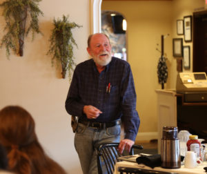 Ed DeGroot with Saint Francis Retreat told the group that his team is working on succession planning. Photo by Leslie David.