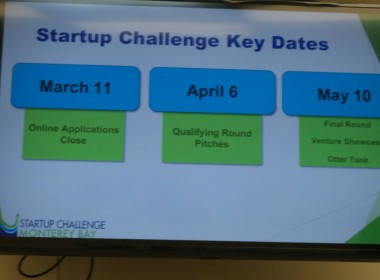 Important dates for Startup Challenge Monterey Bay.