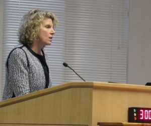 Kim Stone during her presentation to supervisors on Oct. 23. File photo by Noe Magaña.