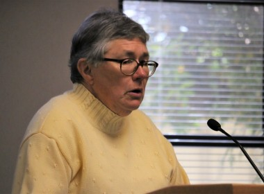 Resident Barbara Taddeo spoke at the March 19 meeting of the San Benito County Board of Supervisors. Photo by John Chadwell.